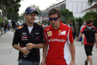 Fernando A, Sebastian Vettel, Fernando Alonso - Sepang - 23-03-2012 - Gran Premio F1 a Sepang