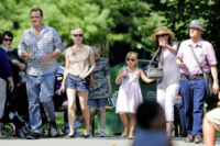 Matilda Ledger, Jason Segel, Michelle Williams - New York - 31-08-2012 - Michelle Williams allo zoo con tutta la famiglia