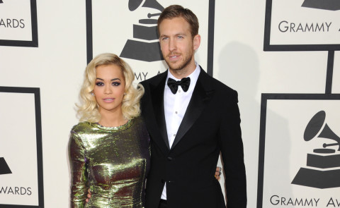 Rita Ora, Calvin Harris - Los Angeles - 26-01-2014 - Grammy Awards 2014: un red carpet all'insegna dell'amore