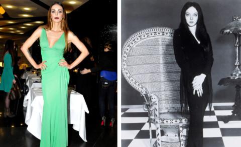 Morticia Addams, Nina Moric - Milano - 19-02-2014 - Milano Fashion Week: Nina Moric in versione Morticia Addams