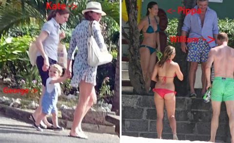 Principe George, Principe William, Kate Middleton, Pippa Middleton - Mustique - 30-01-2015 - Povera Kate: si divertono tutti, tranne lei
