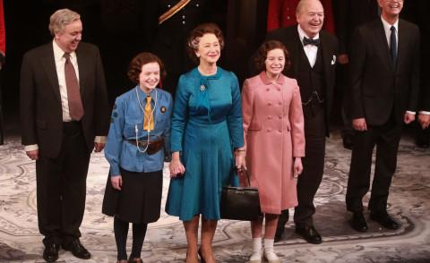 Dakin Matthews, Elizabeth Teeter, Sadie Sink, Richard McCabe, Dylan Baker, Helen Mirren - New York - 09-03-2015 - Helen Mirren è ancora la regina Elisabetta II in The Audience