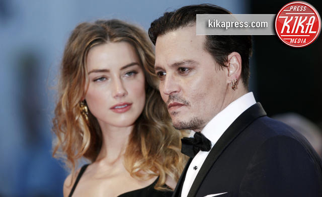 Amber Heard, Johnny Depp - Venezia - 04-09-2015 - Amber Heard-Johnny Depp: spunta un video violento