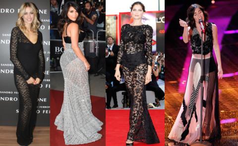 Bianca Atzei, Elena Santarelli, Kim Kardashian, Laetitia Casta - 23-09-2015 - Elena Santarelli e le altre, sotto la gonna... body e culottes!