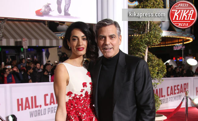 Amal Alamuddin, George Clooney - Westwood - 02-02-2016 - Amal Clooney incinta! Ecco le star che saranno mamme nel 2017