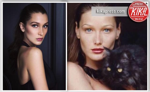 Bella Hadid, Carla Bruni - Parigi - 28-07-2016 - Separate alla nascita: Bella Hadid e Carlà!
