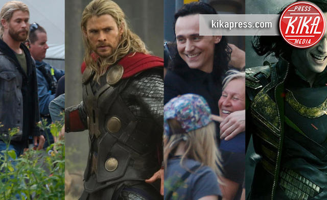 Tom Hiddleston, Chris Hemsworth - Brisbane - 22-08-2016 - Hemsworth-Hiddleston, le prime foto sul set di Ragnarok