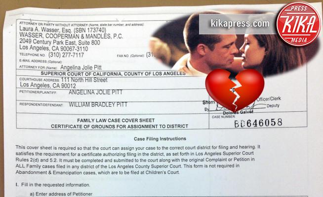 Angelina Jolie, Brad Pitt - Los Angeles - 20-09-2016 - Addio Brangelina, ecco le carte del divorzio in esclusiva