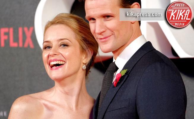 Claire Foy, Matt Smith - Londra - 01-11-2016 - The Crown: Miglior serie tv drammatica