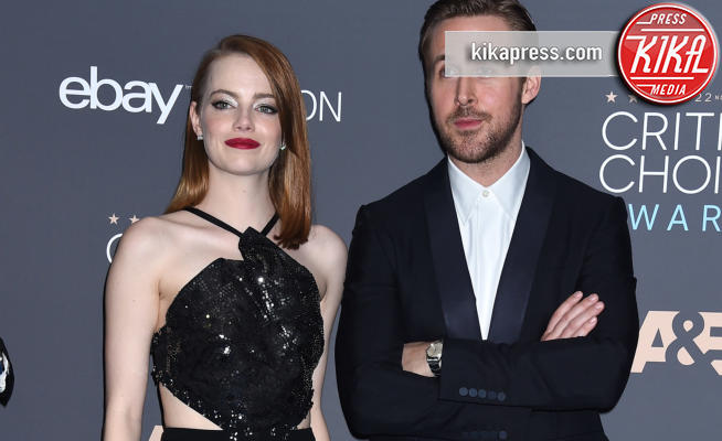 Emma Stone, Ryan Gosling - Santa Monica - 11-12-2016 - Critics' Choice Awards 2016: è La la la Land dominio