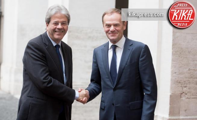 Donald Tusk, Paolo Gentiloni - Roma - 01-02-2017 - Gentiloni incontra Tusk, l'Ue vuole una correzione dei conti