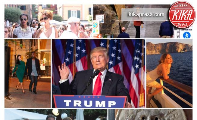 Vip in Italia - 21-03-2017 - Trump e gli altri: i vip in italia per una vacanza 5 stelle
