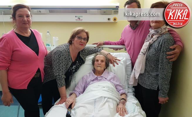 Cecilia Panariello, Ugo Panariello, Giuseppina Panariello, Liberata Pregevole - POMPEI - 02-05-2017 - Liberata, 103 anni, miracolata nel Santuario di Pompei