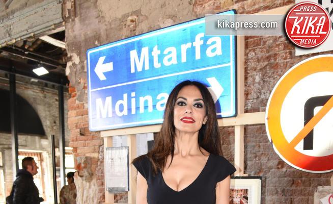 Padiglione malta, Maria Grazia Cucinotta - Venezia - 10-05-2017 - Maria Grazia Cucinotta ospite del padiglione Malta alla Biennale