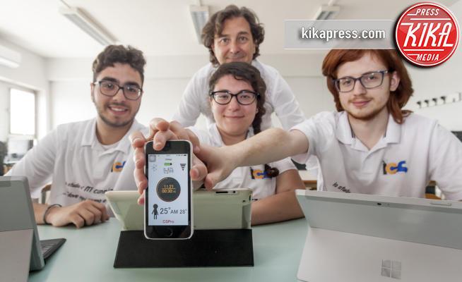 Giorgio Gallo, Vincenzo Marino, Alessandro Fonti, Maria Roggio - Catania - 12-05-2017 - Nasce Cool Skin: l'app per non scottarsi al sole