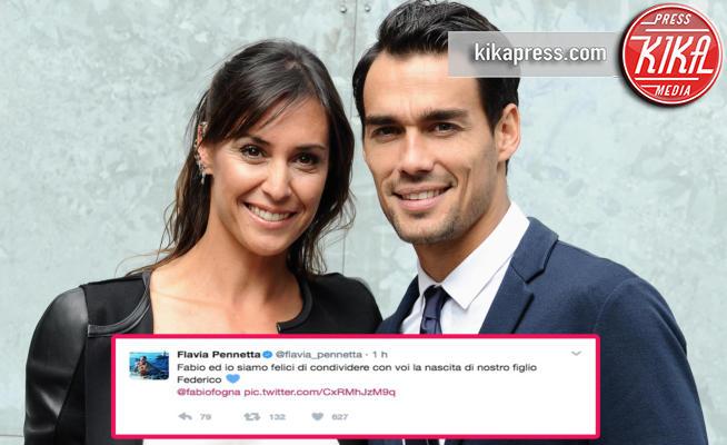 Fabio Fognini, Flavia Pennetta - Milano - 28-09-2015 - Flavia Pennetta è mamma: benvenuto Federico!
