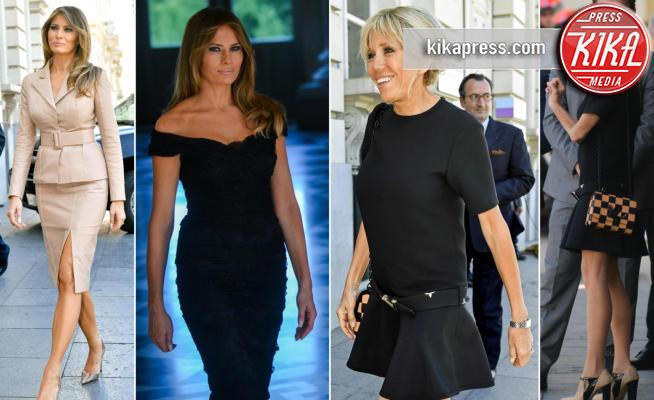 Brigitte Macron, Melania Trump - Bruxelles - 25-05-2017 - Melania Trump-Brigitte Macron: sfida a colpi di eleganza