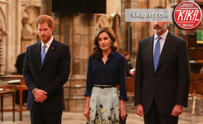 King Felipe VI, Letizia Ortiz, Principe Harry - Londra - 13-07-2017 - Letizia e Felipe di Spagna visitano l'abbazia di Westminster