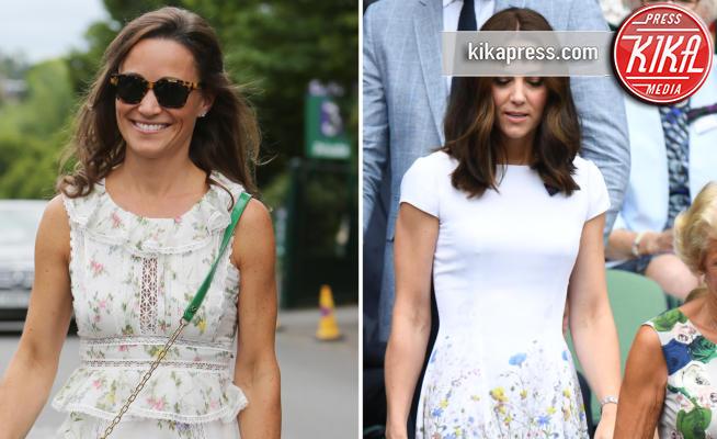 Kate Middleton, Pippa Middleton - Finale maschile di Wimbledon: gara di look sugli spalti