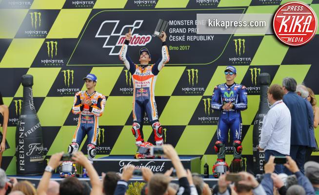 Maverik Vinales, Dani Pedrosa, Marc Marquez - Brno - 06-08-2017 - Gp Repubblica Ceca: vince Marquez, Rossi quarto