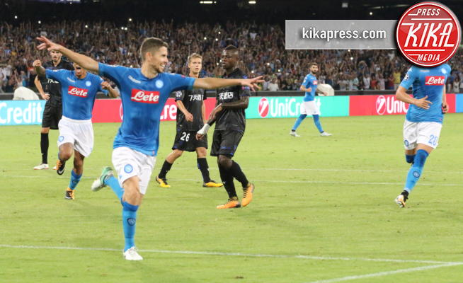 Jorginho - Napoli - 16-08-2017 - Champions League: Napoli-Nizza 2-0, buona la prima per Sarri