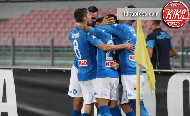 esultanza Napoli - Napoli - 27-08-2017 - Napoli-Atalanta 3-1: Napoli in rimonta contro i bergamaschi