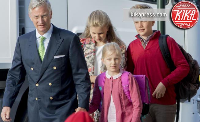 Re Filippo del Belgio, Principe Gabriele del Belgio, Principessa Eleonora del Belgio, Principessa Elisabetta del Belgio - Brussels - 01-09-2017 -