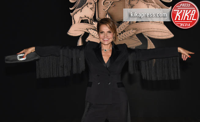 Simona Ventura - Milano - 22-09-2017 - Milano Fashion Week: gli ospiti alla sfilata Elisabetta Franchi