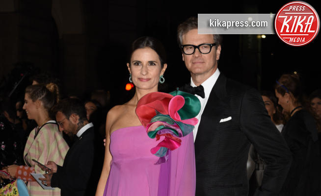 Livia Giuggioli, Colin Firth - Milano - 24-09-2017 - Colin Firth, primo evento pubblico da cittadino italiano