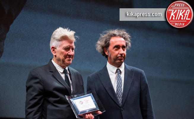 David Lynch, Paolo Sorrentino - Roma - 04-11-2017 - Roma: a David Lynch il Premio alla Carriera