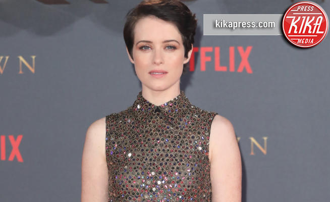 Claire Foy - Londra - 21-11-2017 - The Crown 2, Claire Foy regina di paillettes