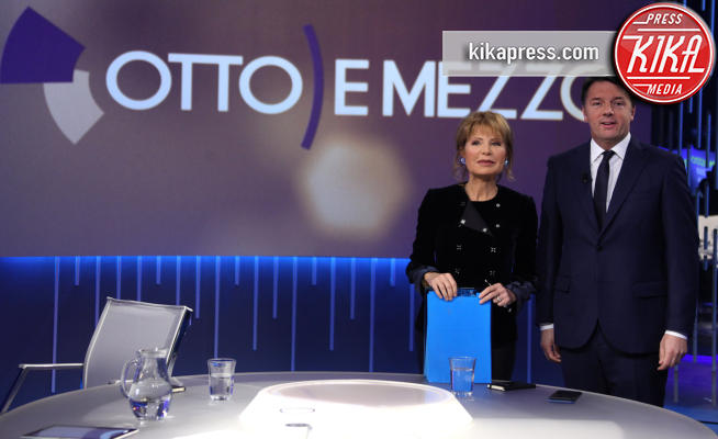 Lilli Gruber, Matteo Renzi - Roma - 08-01-2018 - Matteo Renzi ospite di Lilli Gruber a Otto e Mezzo