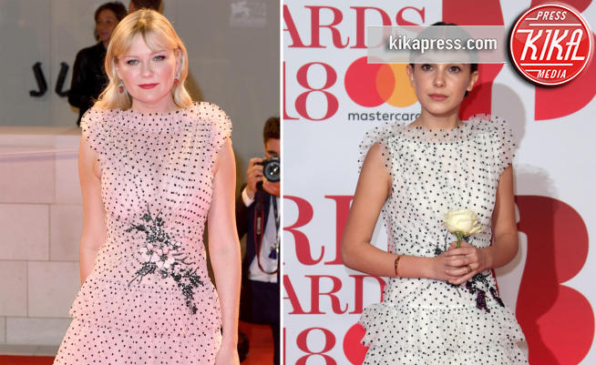 Millie Bobby Brown, Kirsten Dunst - 22-02-2018 - Chi lo indossa meglio? Millie Bobby Brown e Kirsten Dunst