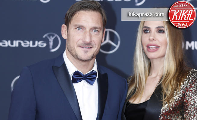 Ilary Blasi, Francesco Totti - Monte Carlo - 27-02-2018 - Laureus Awards 2018: brillano Francesco Totti e Ilary Blasi