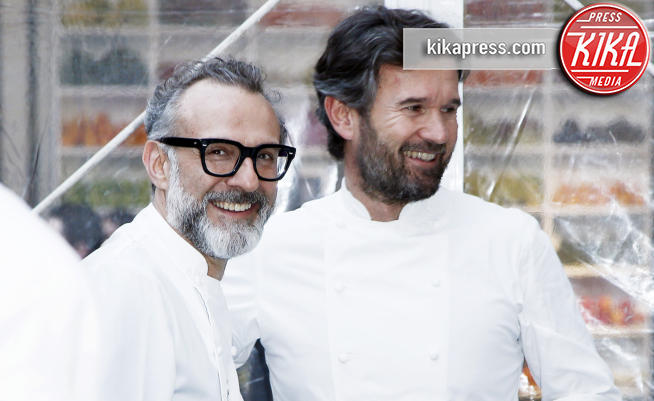 Carlo Cracco, Massimo Bottura - Milano - 18-04-2018 - Bottura, Cracco & Co: una cena da 13 stelle Michelin