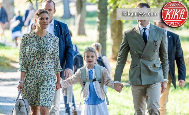 Principessa Estelle di Svezia, Principessa Victoria di Svezia, Daniel Westling - Stoccolma - 21-08-2018 - Star come noi: quando la school run è