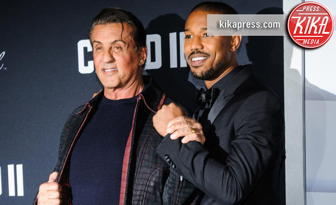 Michael B Jordan, Sylvester Stallone - New York - 15-11-2018 - Rocky e Ivan Drago insieme alla premiere di Creed II
