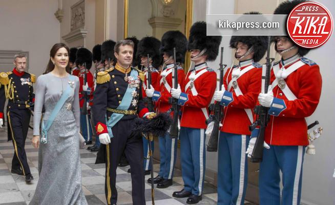 Copenhagen - 03-01-2017 - Mary di Danimarca, dama d'argento al gala' per i diplomatici