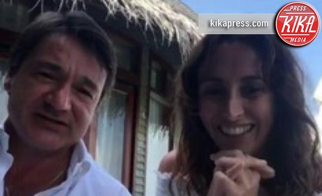 Fabio Caressa, Benedetta Parodi - Maldive - 10-01-2019 - Benedetta Parodi e Fabio Caressa,