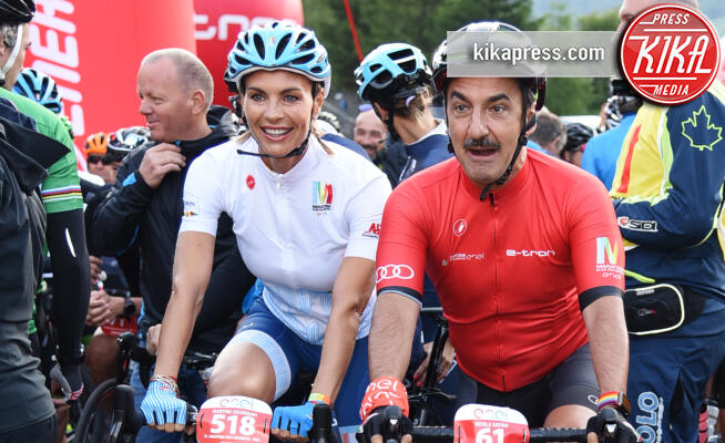 Nicola Savino, Martina Colombari - Corvara in Badia - 07-07-2019 - Martina Colombari, madrina della Maratona dles Dolomites