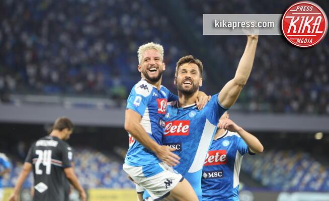 Dries Mertens, Fernando Llorente - Napoli - 14-09-2019 - Napoli Samp 2 a 0: Mertens stende i blucerchiati