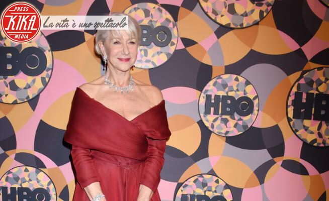 Helen Mirren - Beverly Hills - 05-01-2020 - Golden Globes 2020, Helen Mirren signora in rosso al party HBO