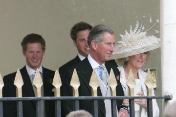 Principe Carlo d'Inghilterra, Principe William, Camilla Parker Bowles, Principe Harry - Windsor - 09-04-2005 - Carlo e Camilla finalmente sposi!