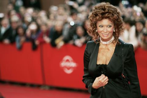 """Sophia Loren - Roma - 19-10-2007 - Sofia Loren: """"Gomorra vincera l'Oscar"""""""
