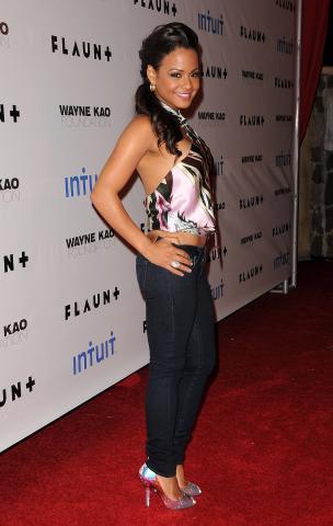 Christina Milian - Holmby Hills - 18-12-2008 - Festa con grandi nomi per i 23 anni di Rihanna