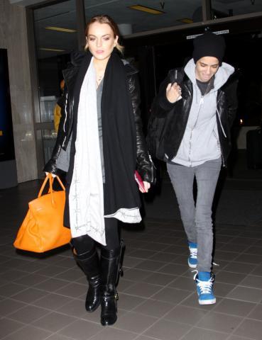 Samantha Ronson, Lindsay Lohan - Hollywood - 16-12-2008 - Samantha Ronson, fidanzata di Lindsay Lohan, ricoverata in ospedale