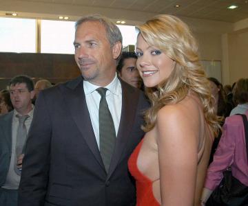 Christine Baumgartner, Kevin Costner - Madrid - 05-05-2005 - Kevin Costner accusato di molestie