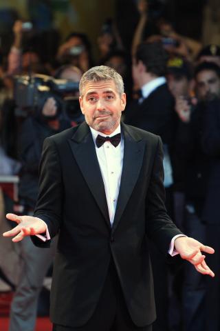 George Clooney - Venezia - 02-09-2007 - David Beckham ospite di George Clooney sul Lago di Como