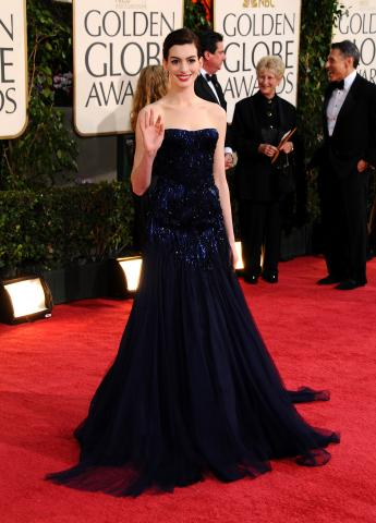 Anne Hathaway - Beverly Hills - 11-01-2009 - Kate Winslet, Meryl Streep e Anne Hathaway: ancora testa a testa tra le donne nelle nomination agli Oscar