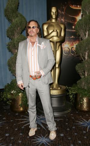 "Mickey Rourke - Beverly Hills - 03-02-2009 - Mickey Rourke: ""Agli Oscar vincera' Sean Penn"""